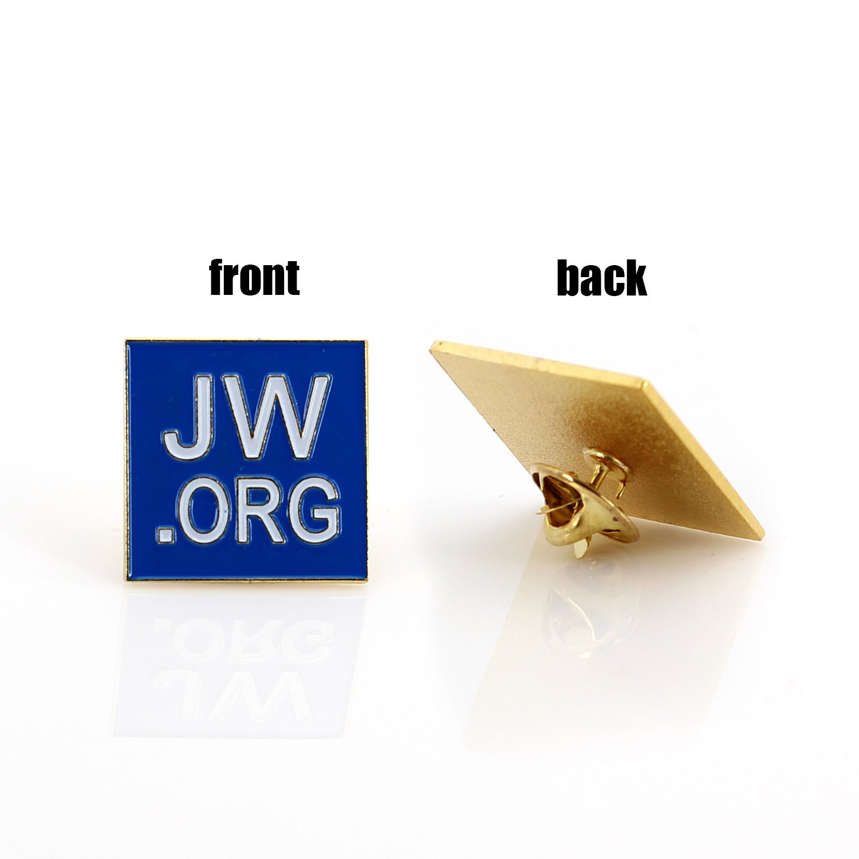 Amazon com: JW ORG Square Gold Lapel Pin Jehovah Witness - 1