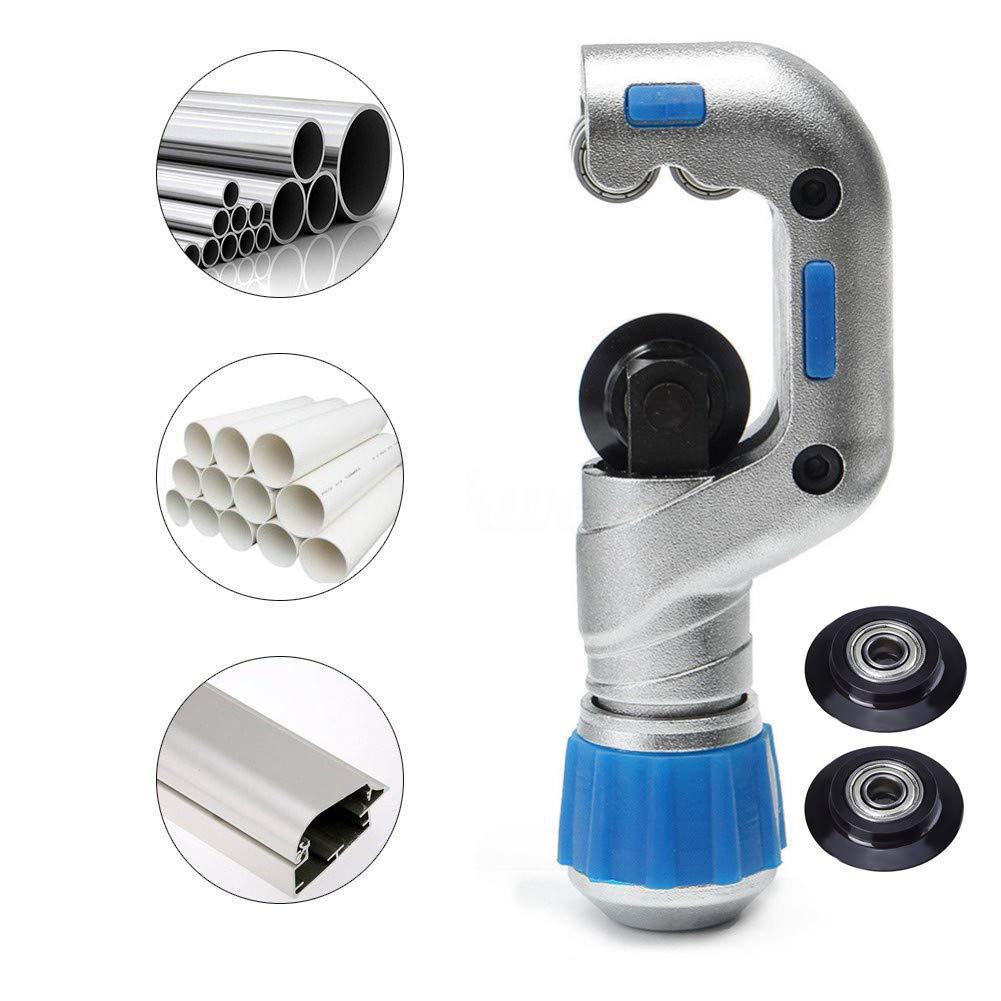 Tubo de rodamiento de tubos de corte 1/4-2', 4EVERHOPE de cobre de alta resistencia de acero inoxidable del PVC cortador con 2pcs tubo de rodamiento cuchillas (5-50mm)