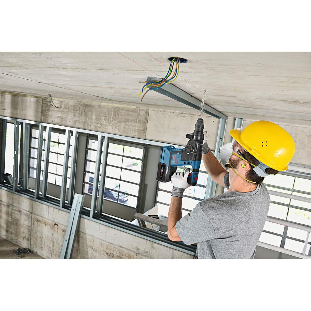 Bosch GBH18V-26K24-RT 6.3 Ah Cordless Lithium-Ion Brushless 1 in. SDS-Plus Bulldog Rotary Hammer Kit (Renewed) by Bosch (Image #3)
