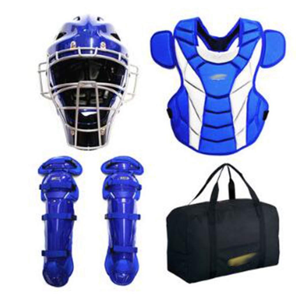 野球保護服少年/大人のハードキャッチャー防護服セット B07HDPYMWV B B