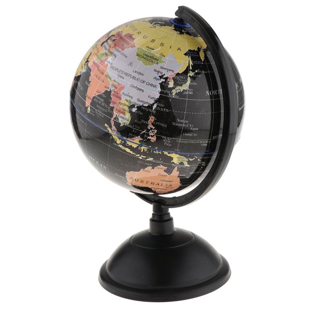 25cm Blue Baoblaze Large Swivel Spining World Globe Model School Educational Teaching Kits Children Leaning Toys
