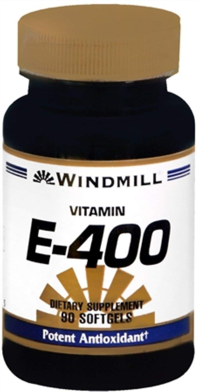Windmill Vitamin E-400 Softgels 90 Soft Gels (Pack of 12)