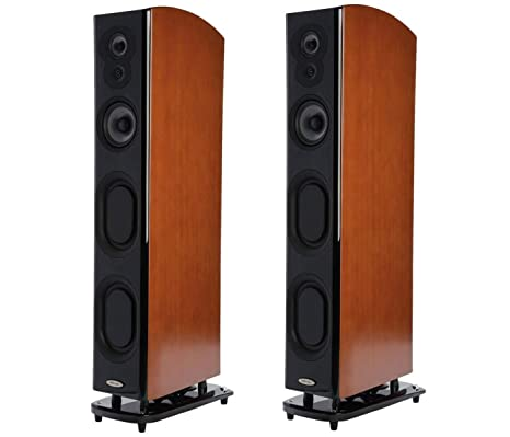 Polk Audio LSiM707 Floor Standing Speaker, 20Hz-40kHz Frequency Response,  Pair, Mt  Vernon Cherry