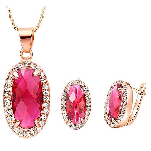 e812454d7906 Layla joyas 18 K chapado en oro rosa Aleación de Swarovski Elementos ...
