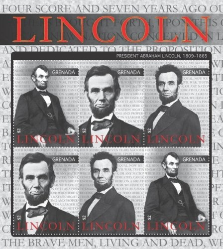 Abraham Lincoln - 16th President - Collectors Stamp - Grenada