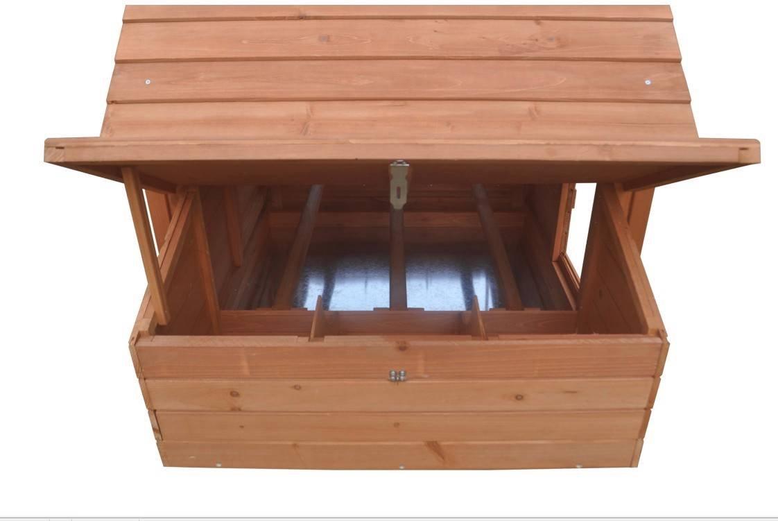 Ardinbir 62'' Deluxe Huge Solid Wood Chicken Coop / Hen House Duck Poultry Rabbit Hutch Cage with 6 Nesting boxes by Ardinbir (Image #8)