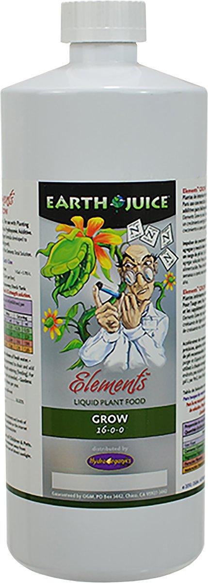 HydroOrganics HOEG35002 Earth Juice Elements Grow , 1-Quart 16-0-0