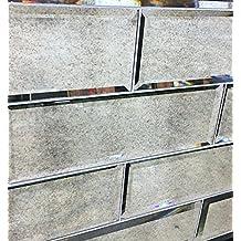 "4"" x 12"" Wide Beveled Subway AntiqueMirror Tile Backsplashes Walls"