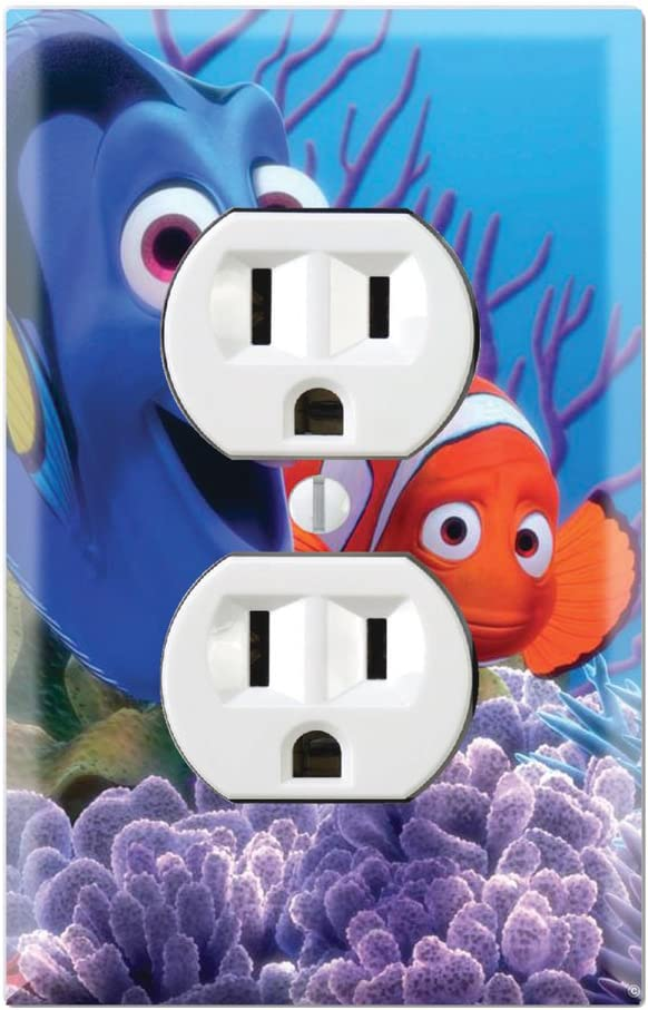 Duplex Wall Outlet Plate Decor Wallplate - Finding Nemo Dory