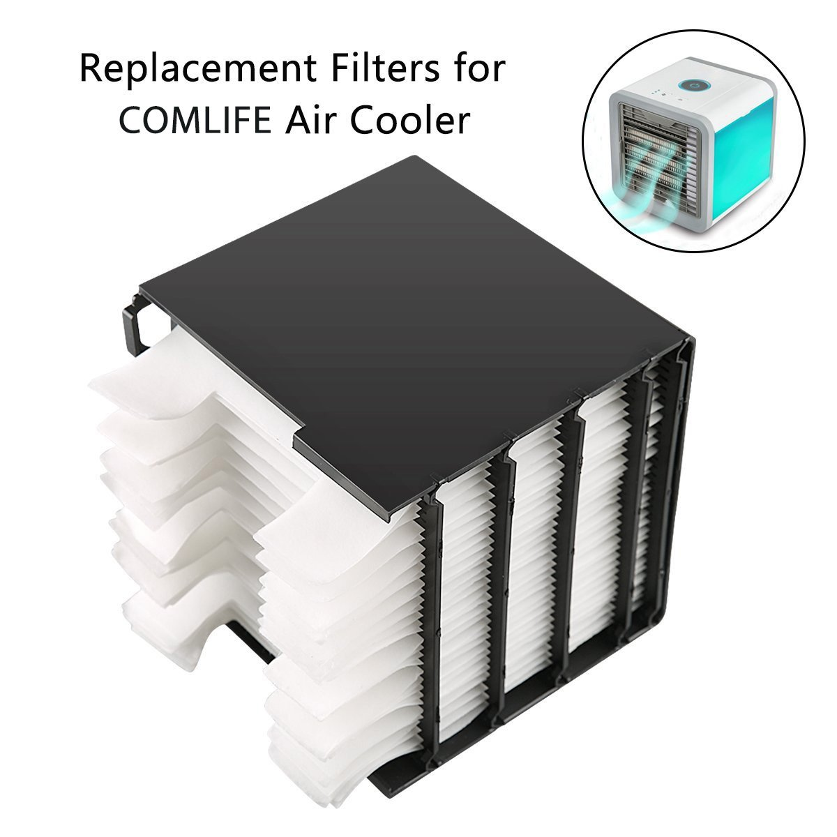 COMLIFE Evaporative Cartridge Replacement for Portable Air conditioner, Personal Air Cooler and Humidifier Filter