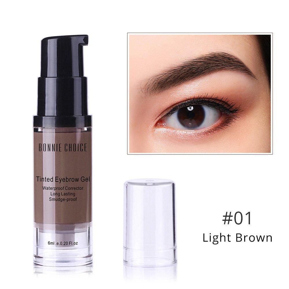 BONNIE CHOICE 6ml Tattoo Eyebrow Gel Waterproof Long Lasting Brow Pomade Make Up Tint Dye Cream Cosmetic Light Brown