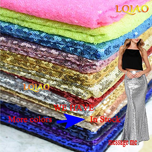 LQIAO 10PCS 90x132-Inch Rectangle Sequin Tablecloth-Champagne Blush for Lavender Wedding Party Decoration by LQIAO (Image #6)