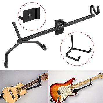 Blanc Horizontal Support Mural Support Pour Guitare électrique - Porte guitare mural