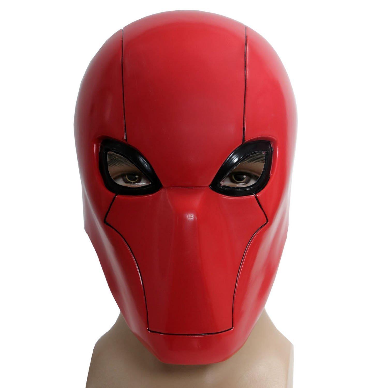 Amazon.com: XCOSER Adult Red Hood Mask Helmet Costume Props for ...
