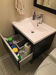 Vs Alexius Black Vanity Sink 24 Quot Inch Floating Wall