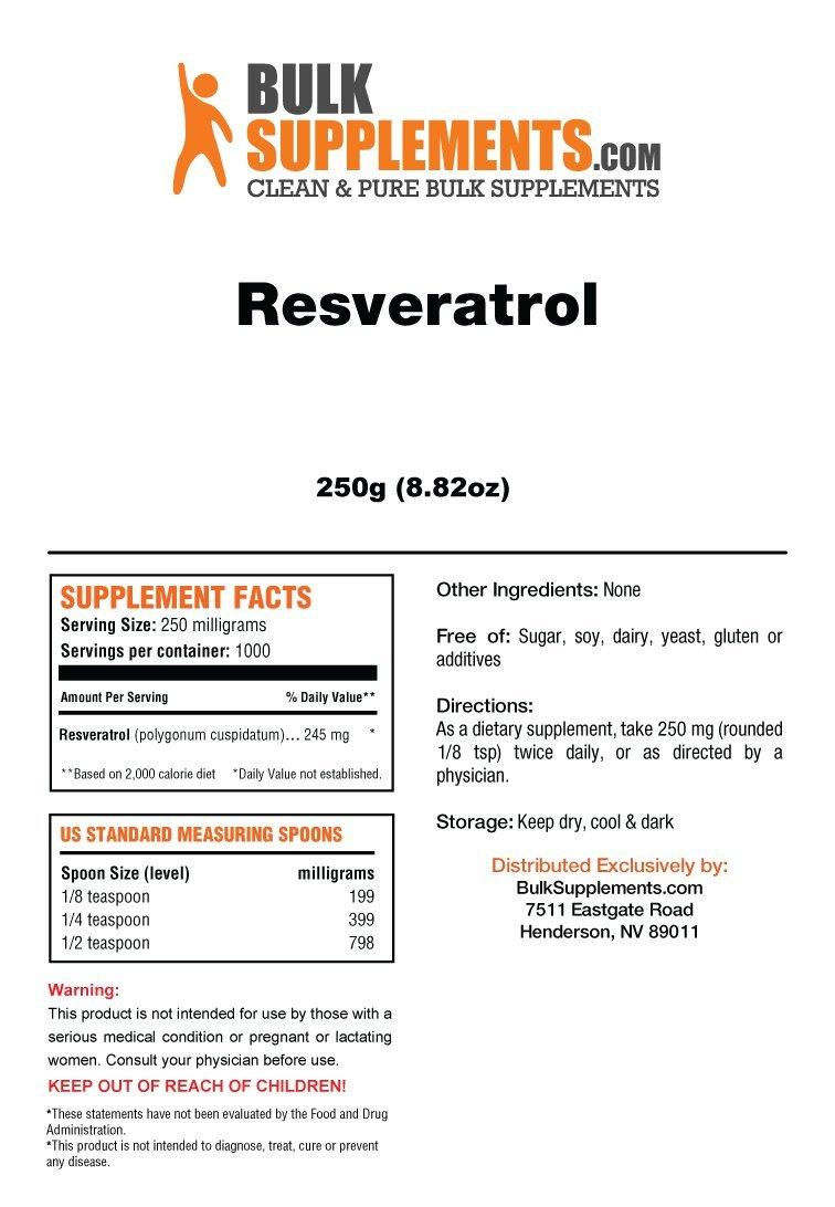 BulkSupplements Pure Resveratrol Powder (250 Grams) by BulkSupplements (Image #2)