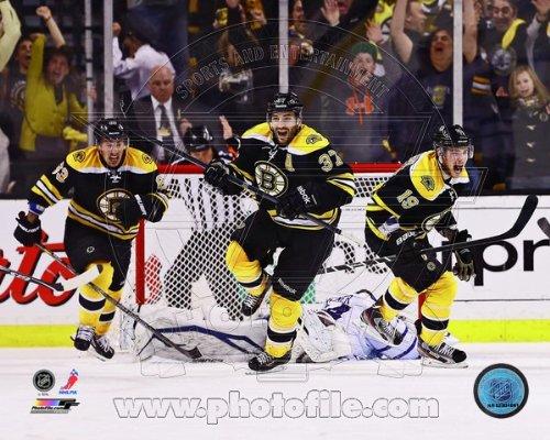Patrice Bergeron Boston Bruins 2013 NHL Playoffs Game 7 Overtime Goal Photo (Nhl Goal Photo)