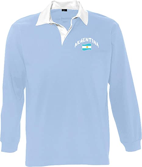 Supportershop - Polo LS Rugby Argentina Unisex: Amazon.es ...
