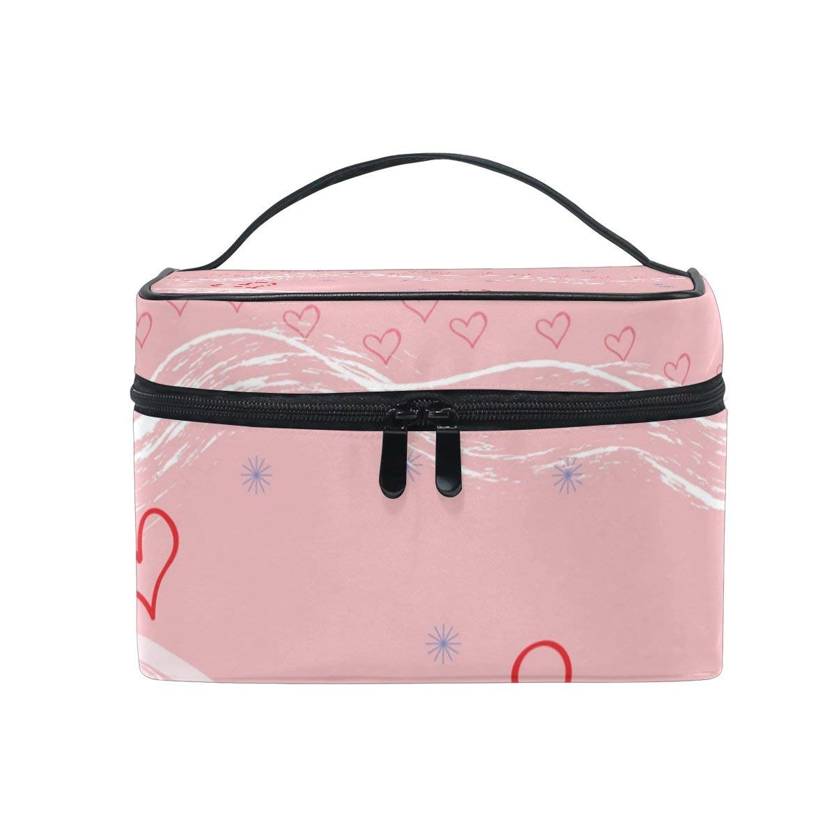 Makeup Bag Sweet Love Heart Mens Travel Toiletry Bag Mens Cosmetic Bags for Women Fun Large Makeup Organizer