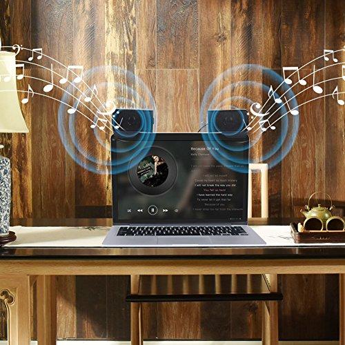ELENKER Portable Clip-On USB Powered Speaker Stereo Multimedia Speaker, Mini USB Speakers for Laptop Notebook Computer PC Phone Tablets by ELENKER (Image #2)