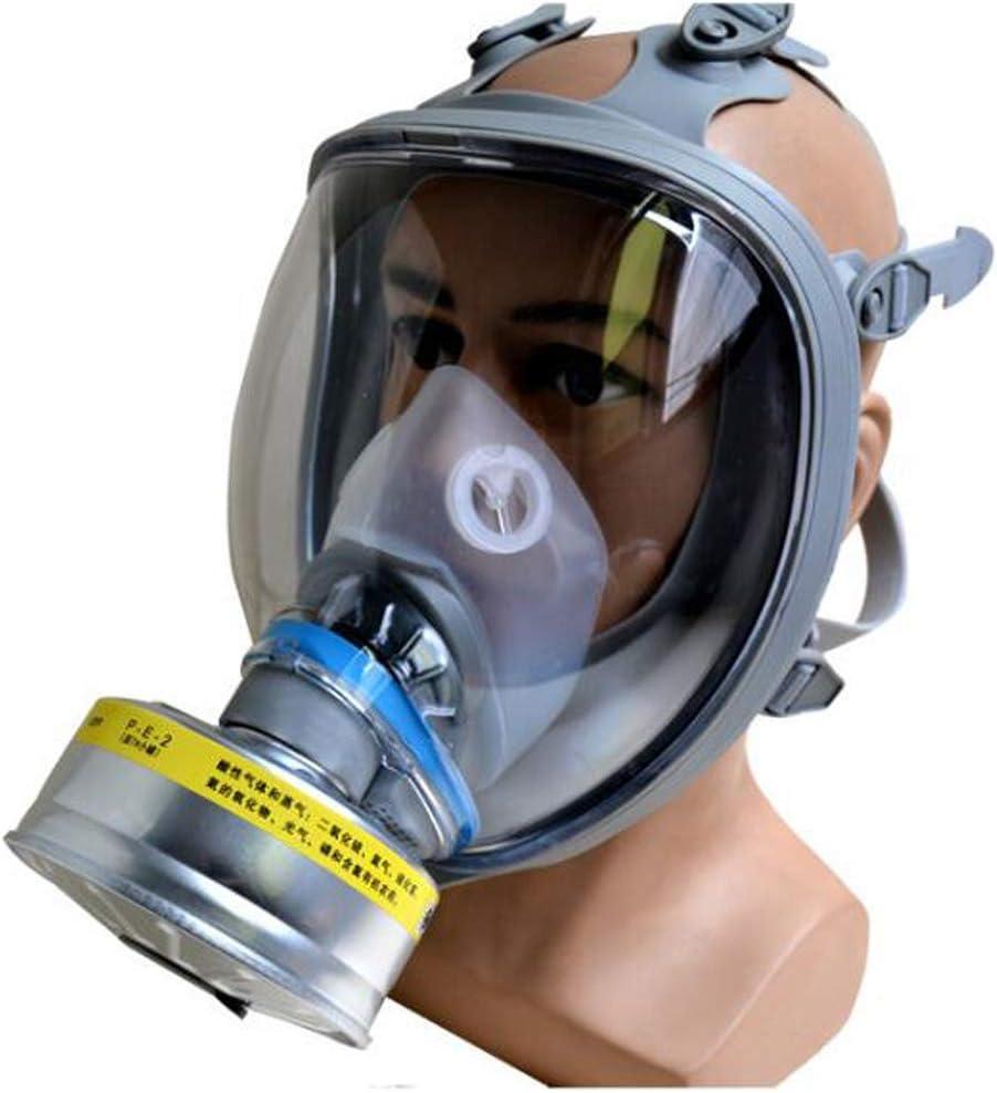SHENXX Protección Respiratoria De Máscara Completa, Puede Equiparse con Una Variedad De Botes, Antigás, Especiales para La Protección De La Seguridad Pública,A