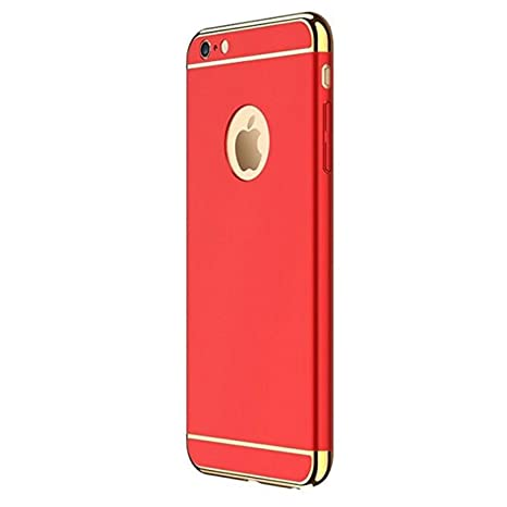 Caler iPhone 6S Plus Carcasa rígida, Antigolpes PC Ultra Slim 3 en 1 Negro antigolpes Carcasa rígida Bumper Cover para iPhone 6 Plus/6S Plus 5,5 ...