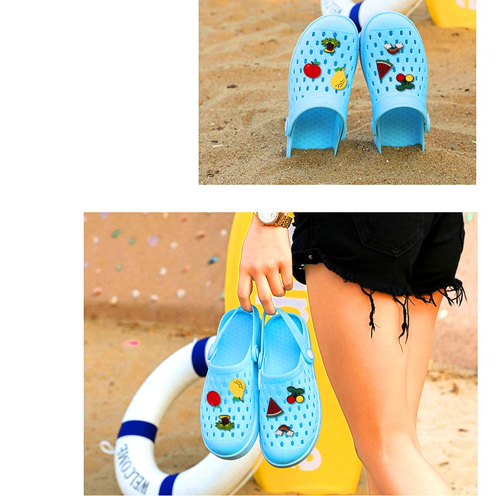 50PCS Shoe Charms for Croc Shoes Decorations Different Shape Shoes Charms for Clog Shoes Kids/' Birthday Party Favors Gifts