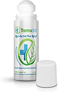 Thermachill Roll-On Pain Relief | All-Natural | Relieves Neuropathy, Arthritis, Fibromyalgia, Plantar Fasciitis, Back Pain, Sciatica, Tendonitis, Tennis Elbow, Bursitis, Muscle and Joint Pain