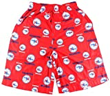 Philadelphia 76ers NBA Youth Flannel Sleepwear Shorts Red (Youth Xlarge 18/20)