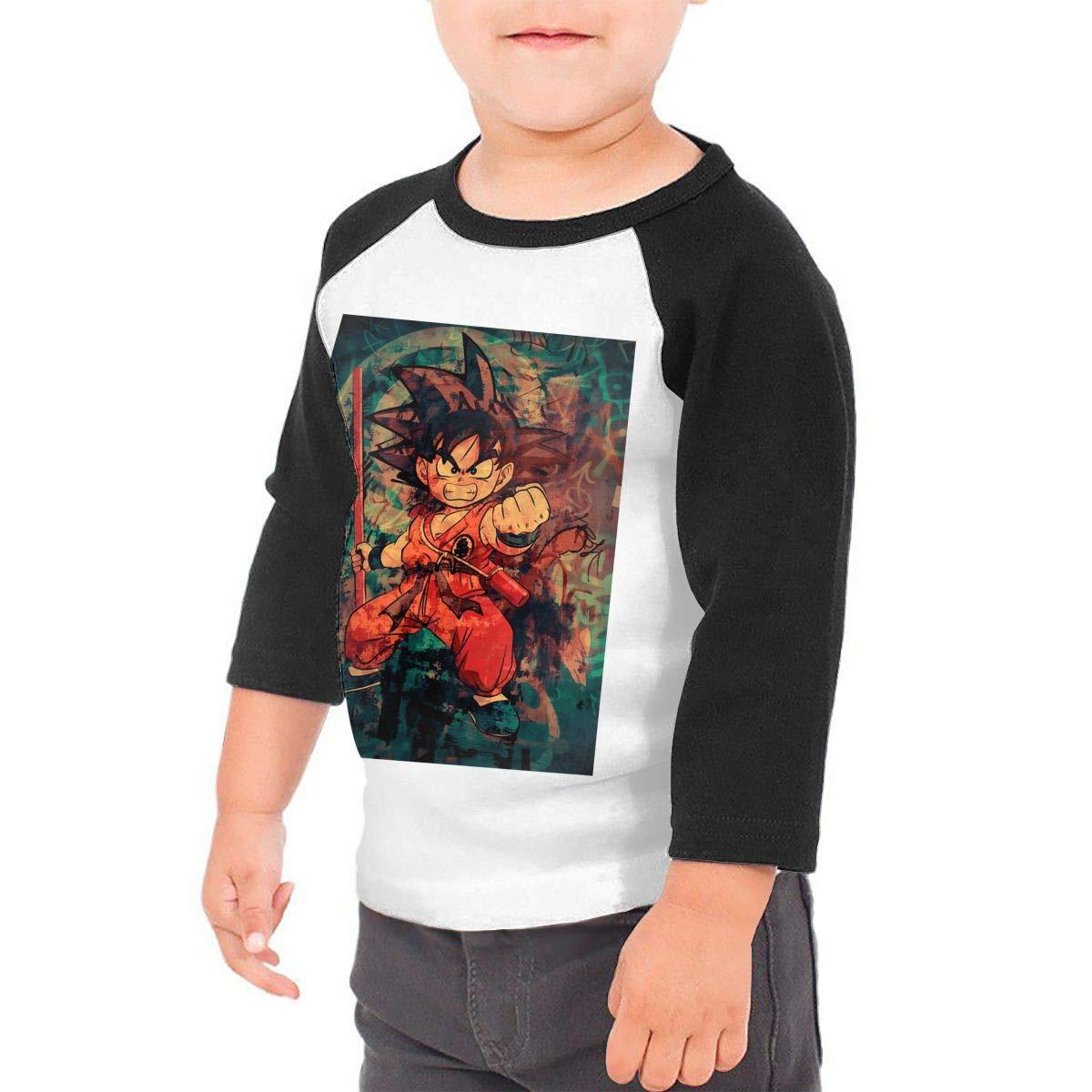 Black6Red Kid Goku Childrens 3//4 Sleeve T-Shirt