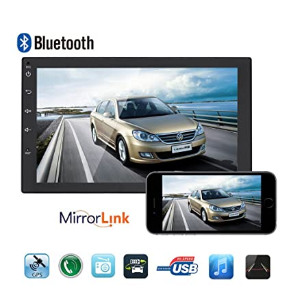 9086f9bd8 Amazon.com  Car Stereo-7 Inch Universal Double Din in Dash Car CD ...