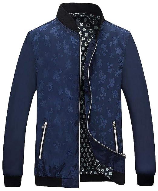 Giacche Casual Leggero Da Coat Uomo Cappotto Bomber Con Zip Cappotto  Classico Giacche A Vento Colletto 471c56ff001