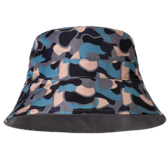 56c0e11b31 Baby Boy Girl Waterproof Bucket Hat Polyester Soft Colorful UV Protection  Outdoor Kids (Blue Camo