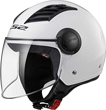 LS2 Casco Moto of562 Airflow, Gloss White Long, XXL