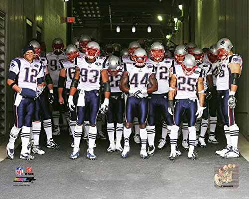 New England Patriots Team Introduction Photo (Size: 8
