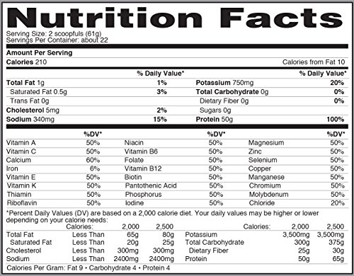 Isopure Zero Carb Protein Powder, 100% Whey Protein Isolate, Flavor: Cookies & Cream, 1.36 kgs (Packaging May Vary)