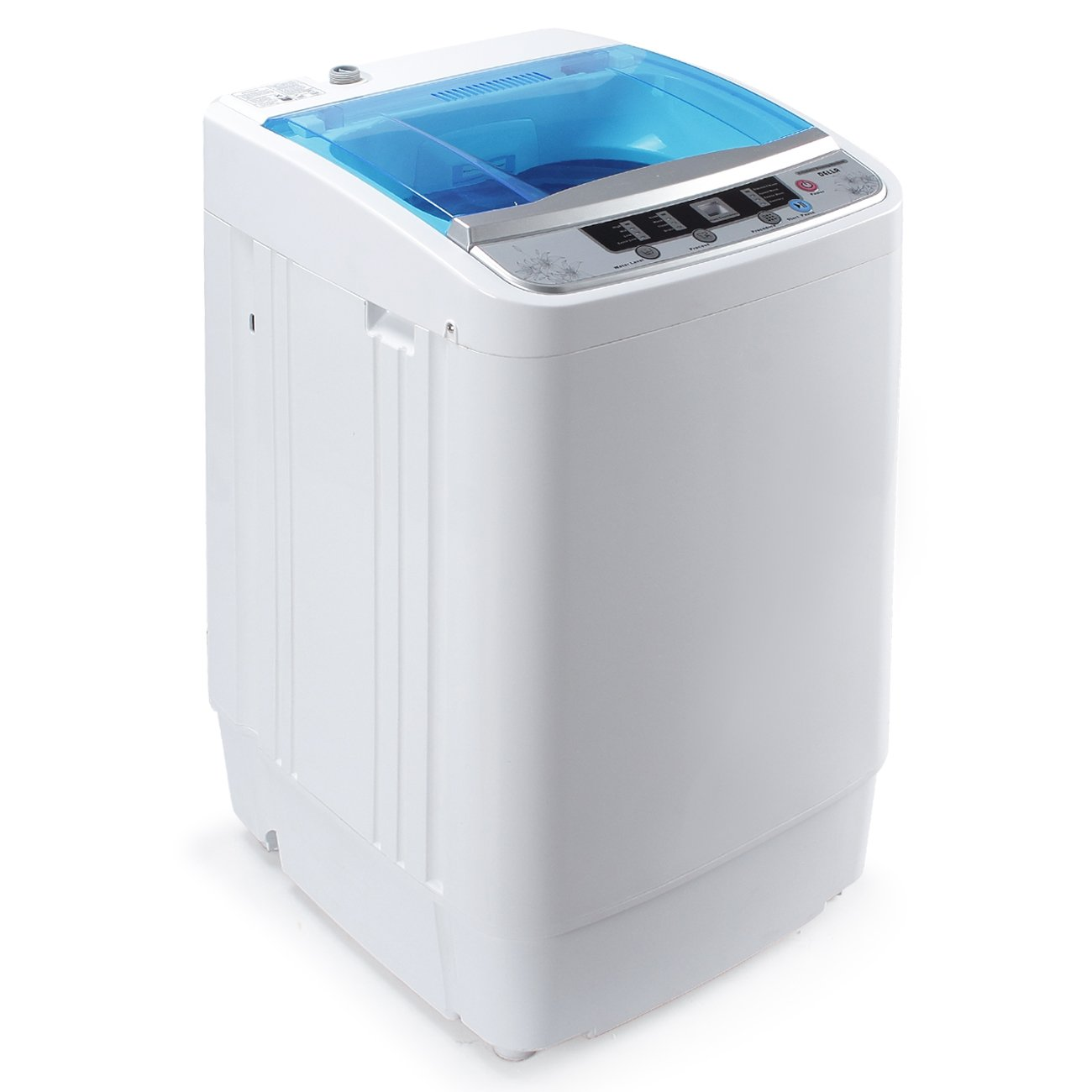 Amazon.com: Della Portable 3.5KG Compact Fully Holds 7.7lbs Load Automatic  Mini Home Washing Laundry Machine, White: Home U0026 Kitchen