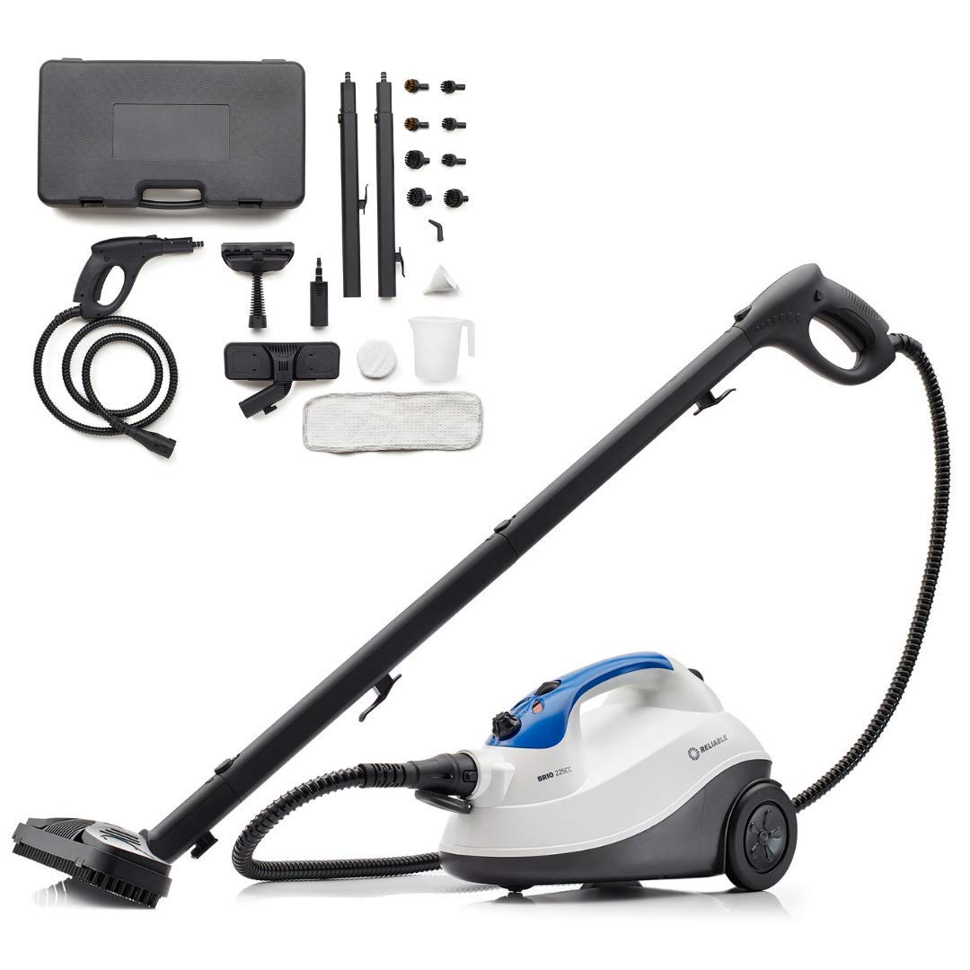 Grout Reliable Brio Pro 225cc Steam Cleaning System Carpet Cleaner Hardwood Steam Cleaners Steamer for Cleaning Tile Steam Cleaner for Cars, 65 PSI Steam Cleaners for Home Use