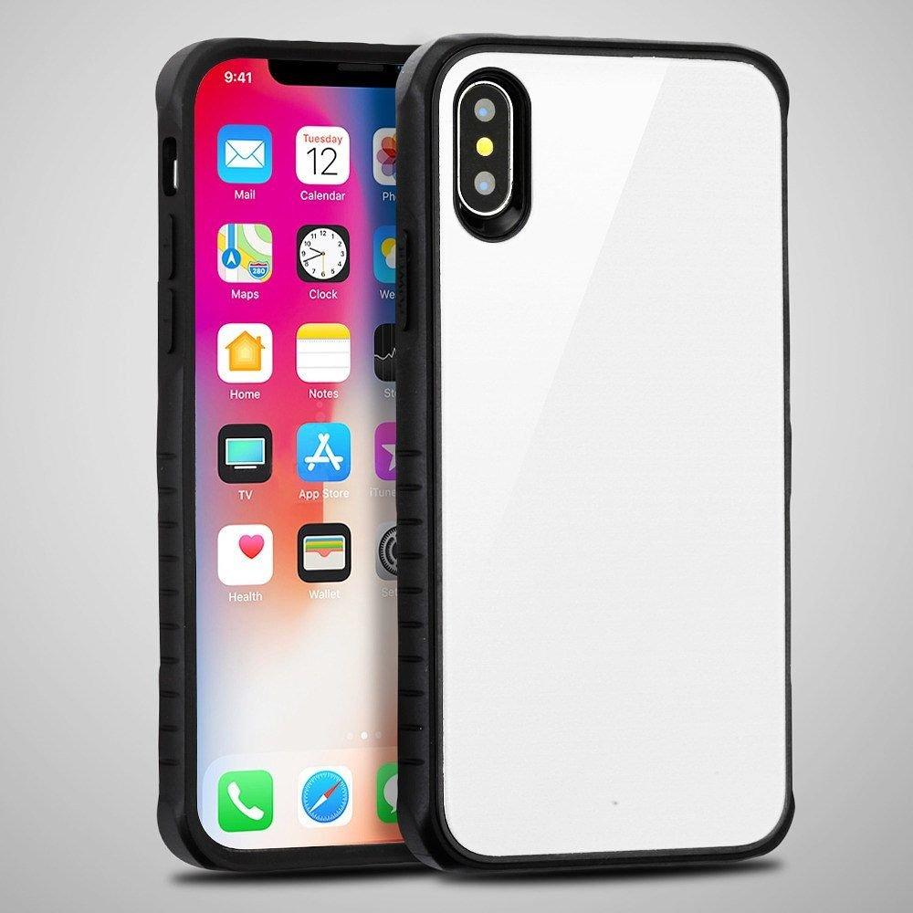 【翌日発送可能】 iPhone xケース Apple、MYBAT Fusionデュアルレイヤ[衝撃吸収]保護ハイブリッドPC/TPUラバーケースカバーfor iPhone Apple iPhone iPhone X、ホワイト/ブラック B0791BQB6L, 婦中町:56827a8b --- svecha37.ru