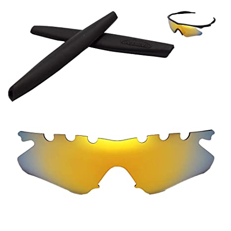 Amazon.com : Walleva Vented Replacement Lenses + Rubber for Oakley M ...