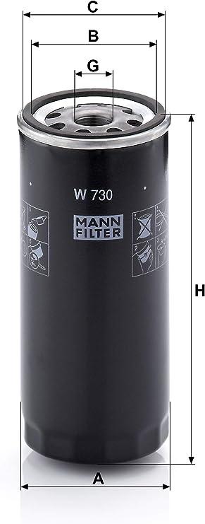 Original Mann Filter Ölfilter W 730 Für Pkw Auto