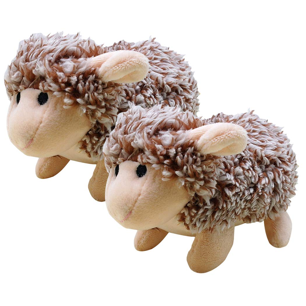 Dog Toys Plush, Legendog 2 Pcs Dog Chew Toys Squeaky Stuffed Dog Toy Sheep