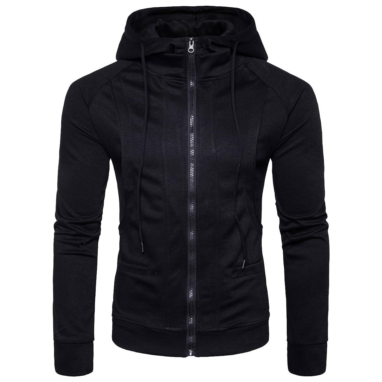 Moreto Men's Oblique Zipper Jacket Cosplay Costumes Hoodie Coat