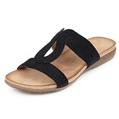 Eoeth Women's Casual Beach Flat Shoes Ladies Slippers Peep Toe Sandals Fish Mouth Shoes: Clothing