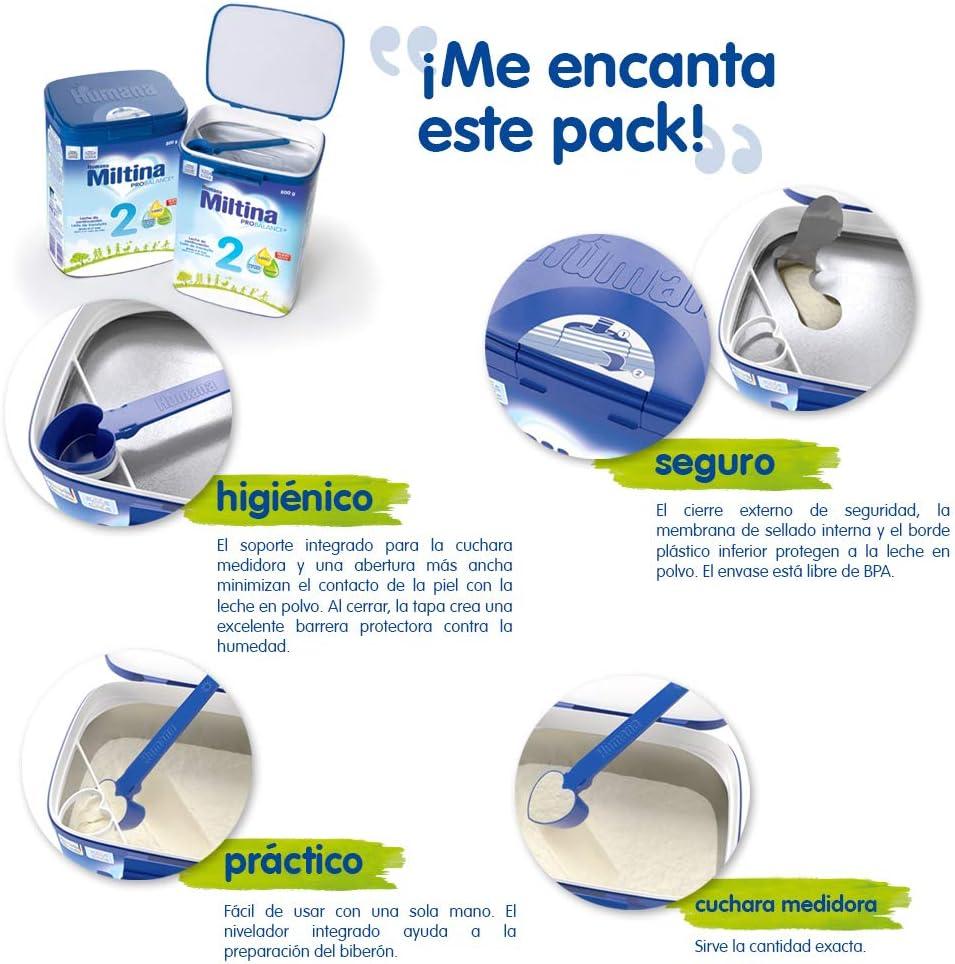 Humana Miltina Probalance 2 Leche Infantil con Hmo (Componente en Leche Materna), Fórmula de Continuación Para Bebés 6-2 Meses, Original, 800 Gramos