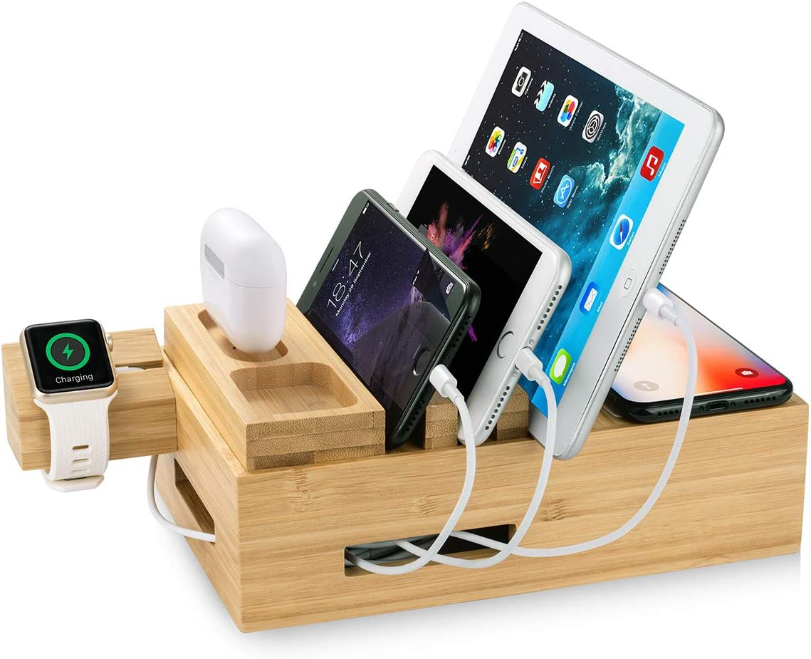 Wireless Charging Station-6 in 1 for Multiple Devices, Qi-Certified Wireless Charger for iPhone, ZEROELEC 6 USB Ports for Smart Phones and Tablets Compatible with iPhone 11,AirPod Pro, iWatch