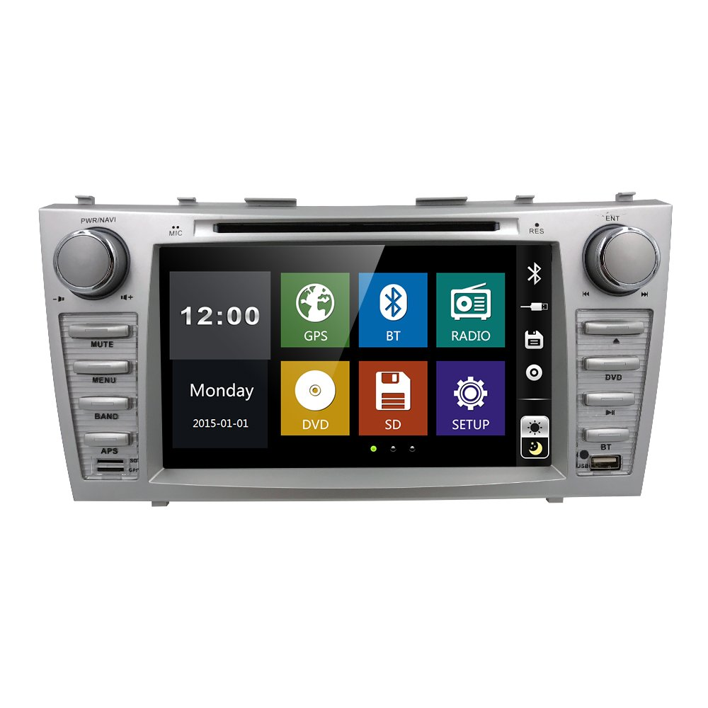 Radio DVD CD Player Car Stereo GPS Navigation for Toyota Camry 2007 2008 2009 2010 2011 Aurion 2006-2011 in Dash Radio Head Unit Receiver 8 inch Touch Screen with Bluetooth USB SD