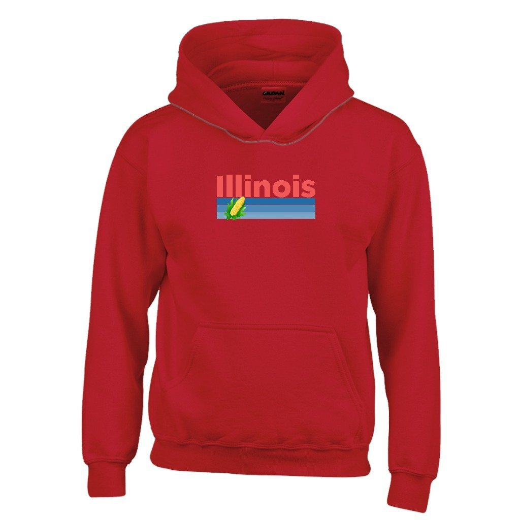 Tenn Street Goods Illinois Retro Corn /& Farm Youth Hoodie Kids Sweatshirt