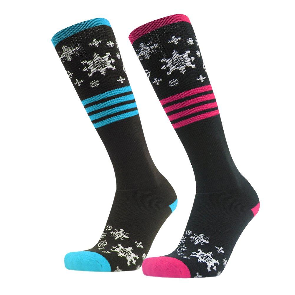 Knee High Socks, Gmark Women's Casual Socks 2 Pairs with Cute Colorful Pattern Ski Sock For Birthday