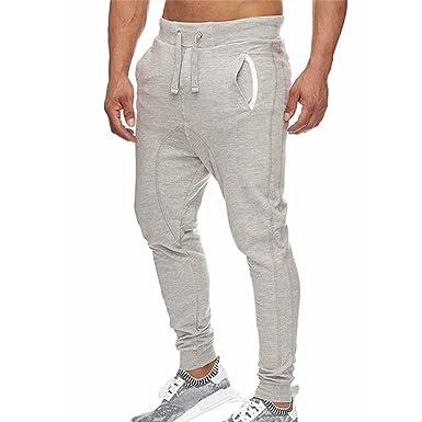 4bc41302414 MCYs Jogging Pantalons de Survêtement Ceinture Élastique Sport Cargo  Pantalons avec Poches Joggers Activewear Pantalons pour Homme Pas Cher  Confortable  ...